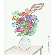 Vază cu flori 8 Martie
